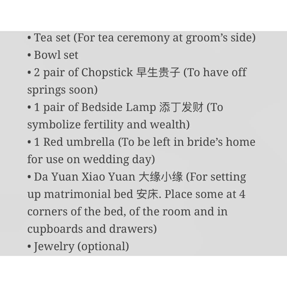 📌 The Betrothal (Guo Da Li) Customs - Lindelious - Dayre