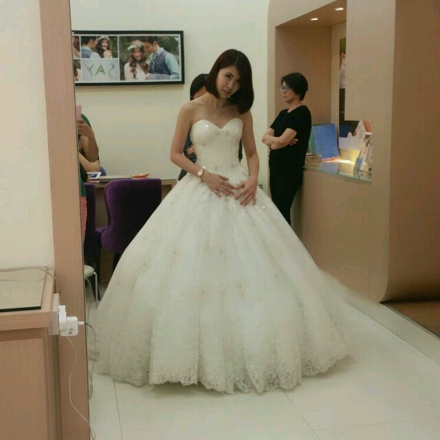 One Of The Ballgowns That I Tried Pardon My Face Cos Its A Candid Shot
